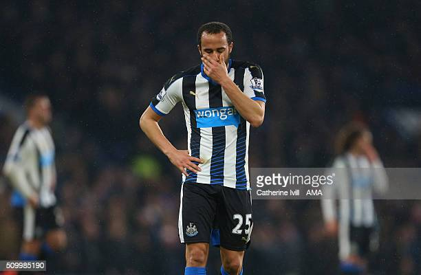 A dejected looking Andros Townsend of Newcastle United during the Barclays Premier League match between Chelsea and Newcastle United at Stamford...