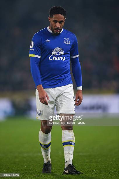 A dejected looking Ashley Williams of Everton during the Premier League match between Hull City and Everton at KC Stadium on December 30 2016 in Hull...