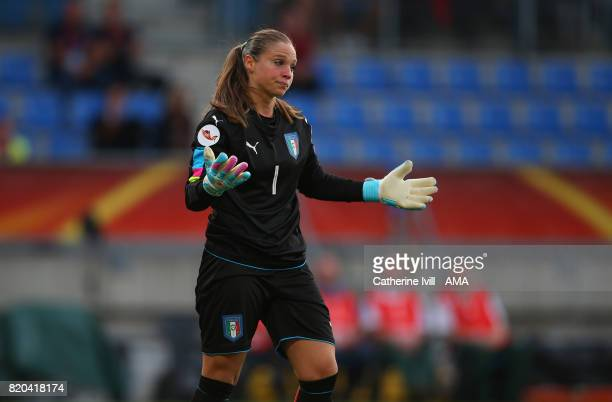 A dejected looking Laura Guiliani of Italy Women during the UEFA Women's Euro 2017 match between Germany and Italy at Koning Willem II Stadium on...