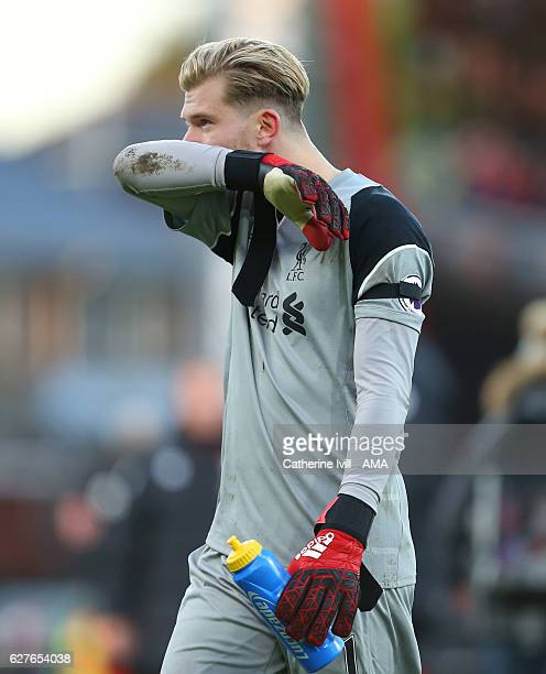 A dejected looking Liverpool goalkeeper Loris Karius walks off after Premier League match between AFC Bournemouth and Liverpool at Vitality Stadium...