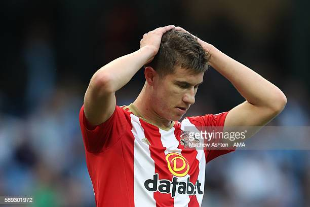 A dejected looking Paddy McNair of Sunderland after missing a chance to score during the Premier League match between Manchester City and Sunderland...