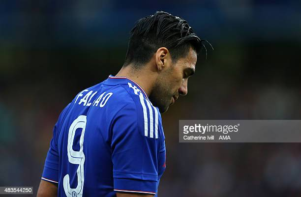 A dejected looking Radamel Falcao of Chelsea during the preseason friendly between Chelsea and Fiorentina at Stamford Bridge on August 5 2015 in...
