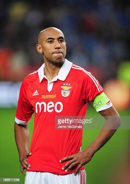 A dejected Luisao of Benfica looks on during the UEFA Europa League Final between SL Benfica and Chelsea FC at Amsterdam Arena on May 15 2013 in...