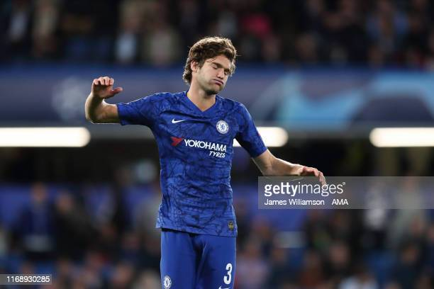 Dejected Marcos Alonso of Chelsea during the UEFA Champions League group H match between Chelsea FC and Valencia CF at Stamford Bridge on September...