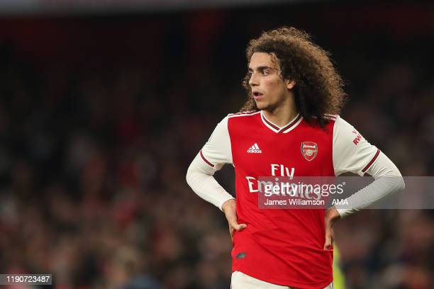 Dejected Matteo Guendouzi of Arsenal at full time of the Premier League match between Arsenal FC and Chelsea FC at Emirates Stadium on December 29,...