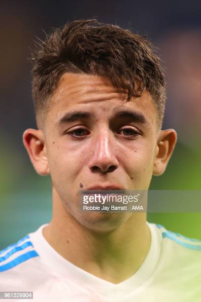 A dejected Maxime Lopez of Marseille at full time during the UEFA Europa League Final between Olympique de Marseille and Club Atletico de Madrid at...