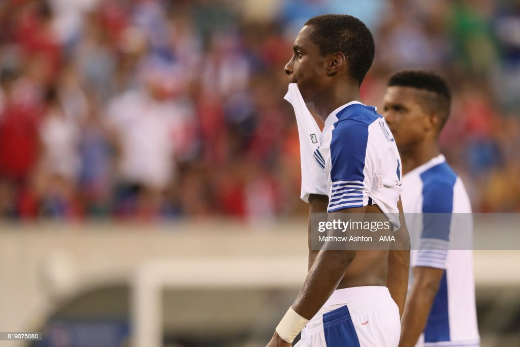 A dejected Michael Murillo of Panama after losing 1-0 and being knocked out of the tournament during the 2017 CONCACAF Gold Cup Quarter Final match between Costa Rica and Panama at Lincoln Financial Field on July 19, 2017 in Philadelphia, Pennsylvania.