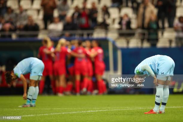 A dejected Natthakarn Chinwong of Thailand during the 2019 FIFA Women's World Cup France group F match between USA and Thailand at Stade Auguste...