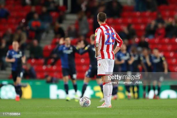 A dejected Nick Powell of Stoke City after Sammy Ameobi of Nottingham Forest scored a goal to make it 12 during the Sky Bet Championship match...