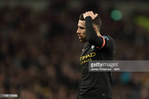 Dejected Nicolas Otamendi of Manchester City during the Premier League match between Tottenham Hotspur and Manchester City at Tottenham Hotspur...