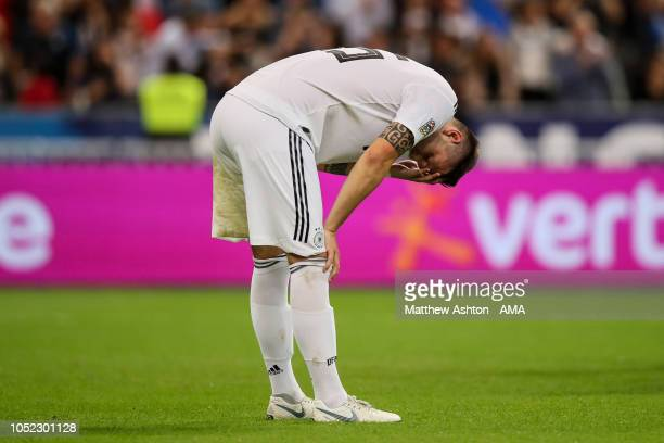 A dejected Niklas Sule of Germany at full time during the UEFA Nations League A group one match between France and Germany at Stade de France on...