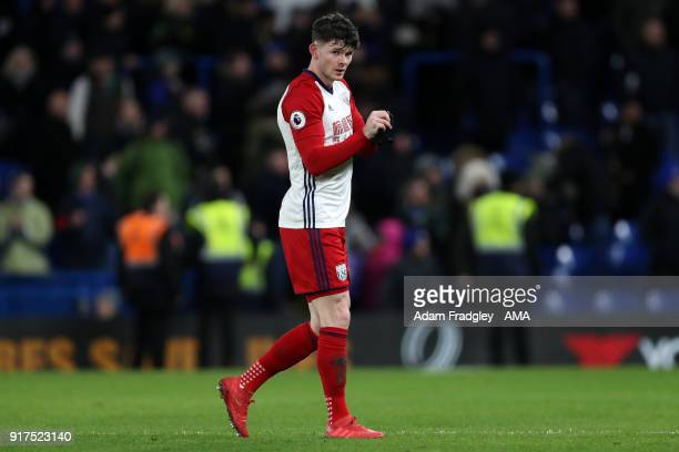 A dejected Oliver Burke of West Bromwich Albion at the end of the match during the Premier League match between Chelsea and West Bromwich Albion at...