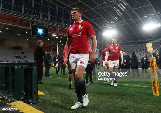 A dejected Owen Farrell of the Lions and teammates walk off the pitch following their 2322 defeat during the 2017 British Irish Lions tour match...