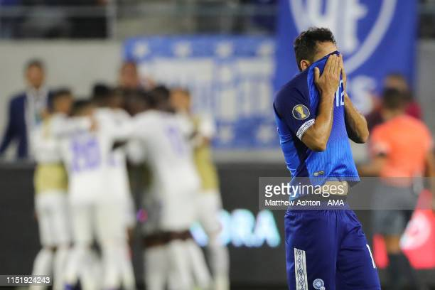 Dejected Romell Quioto of Honduras after Honduras scored a goal to make it 3-0 during the Group C 2019 CONCACAF Gold Cup match between Honduras v El...