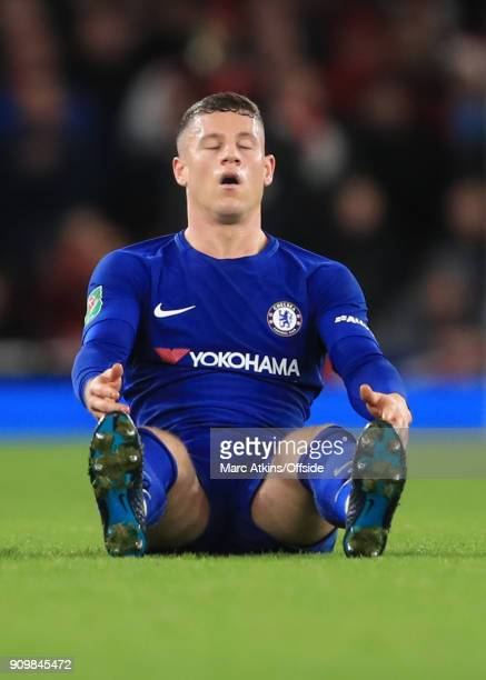 A dejected Ross Barkley of Chelsea during the Carabao Cup SemiFinal 2nd leg match between Arsenal and Chelsea at Emirates Stadium on January 24 2018...