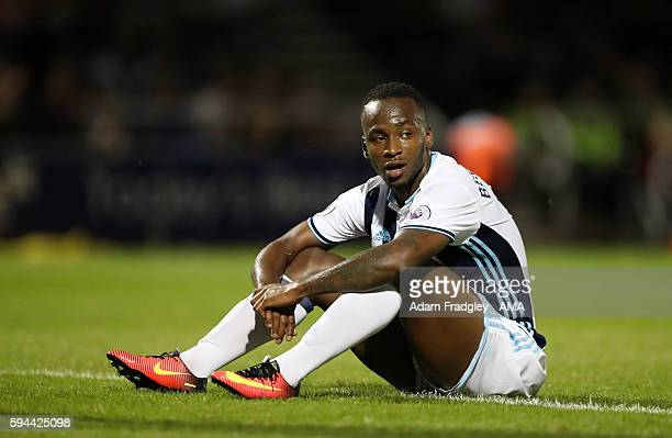 A dejected Saido Berahino of West Bromwich Albion after losing 43 on penalties during the EFL Cup fixture between Northampton Town and West Bromwich...