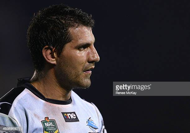 Dejected Sharks player Isaac De Gois leaves the field during the round 11 NRL match between the Cronulla-Sutherland Sharks and the South Sydney...