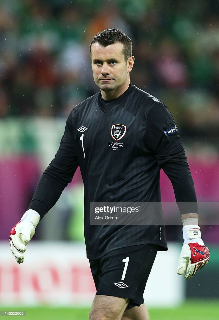 Dejected Shay Given of Republic of Ireland after the UEFA EURO 2012 group C match between Spain and Ireland at The Municipal Stadium on June 14, 2012 in Gdansk, Poland.