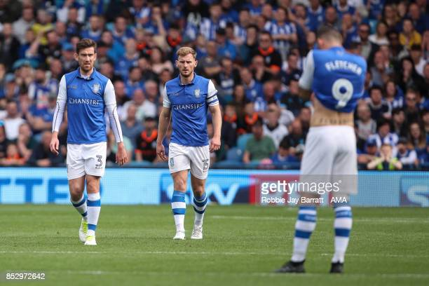 Dejected Sheffield Wednesday players during the Sky Bet Championship match between Sheffield Wednesday and Sheffield United at Hillsborough on...