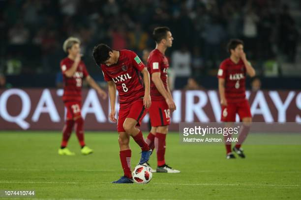 Dejected Shoma Doi of Kashima Antlers after conceding a goal to make it 0-1 during the FIFA Club World Cup UAE 2018 Semi Final match between Kashima...