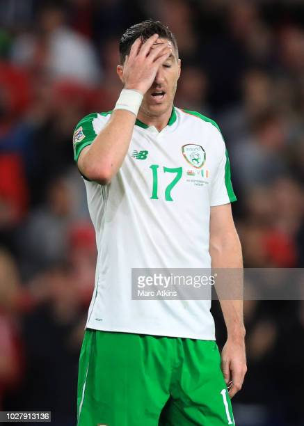 A dejected Stephen Ward of Republic of Ireland during the UEFA Nations League B group four match between Wales and Ireland at Cardiff City Stadium on...