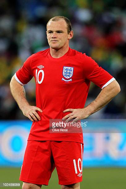 Dejected Wayne Rooney of England during the 2010 FIFA World Cup South Africa Round of Sixteen match between Germany and England at Free State Stadium...