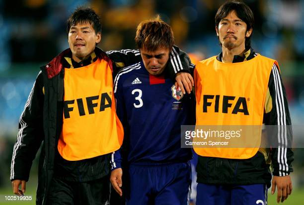 Dejected Yuichi Komano of Japan after his missed penalty ultimately sends Japan out of the tournament in a shootout during the 2010 FIFA World Cup...