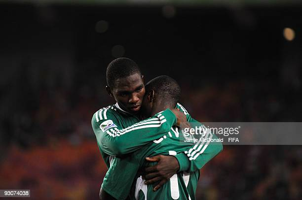 Dejection for Aigbe Oliha and Terry Envoh as Nigeria lose the FIFA U17 World Cup during the FIFA U17 World Cup Final match between Switzerland and...