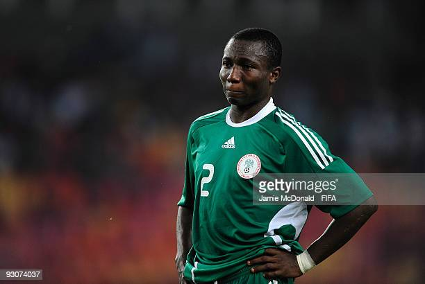 Dejection for Aigbe Oliha as Nigeria lose the FIFA U17 World Cup during the FIFA U17 World Cup Final match between Switzerland and Nigeria at the...