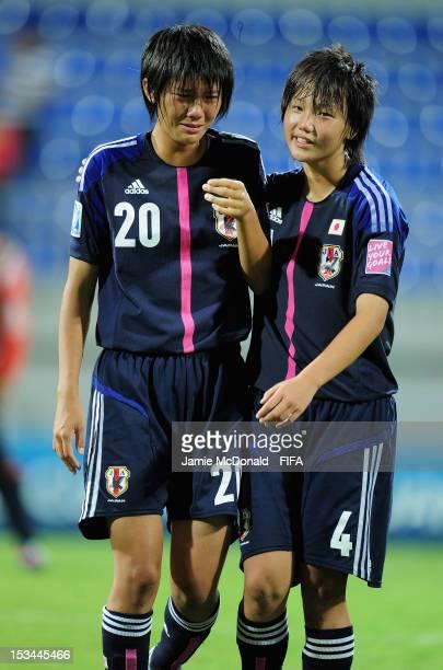 Dejection for Akari Shiraki of Japan during the FIFA U17 Women's World Cup 2012 QuaterFinal match between Japan an Ghana at the 8km Stadium on...