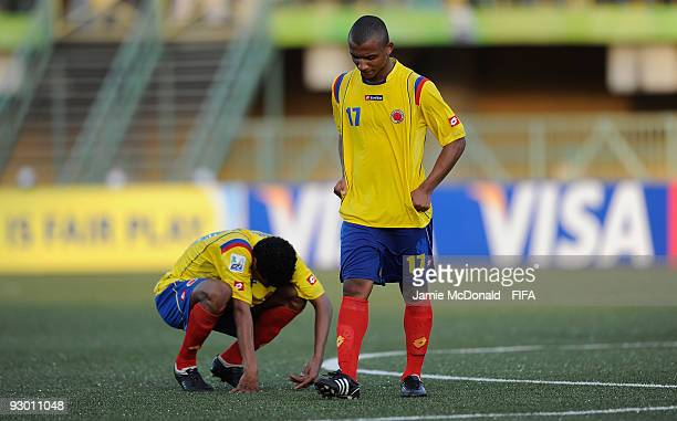 Dejection for Alvaro Hungria of Colombia as Colombia are knocked out of the competition during the FIFA U17 World Cup SemiFinal 1 between Colombia...