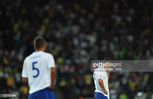 Dejection for Benjamin Gordon of England during the FIFA U20 World Cup Round of 16 match between Nigeria and England at the Estadio Centenario on...