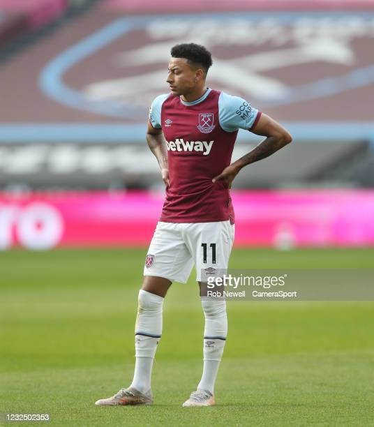 Dejection for Jesse Lingard and West Ham United during the Premier League match between West Ham United and Chelsea at London Stadium on April 24,...