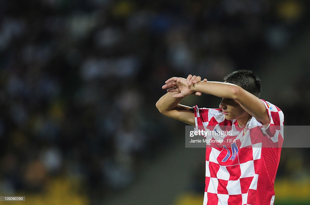 Dejection for Roberto Puncec of Croatia during the FIFA U-20 World Cup Group D match between Croatia and Nigeria at the Estadio Centenario on August 3, 2011 in Armenia, Colombia.