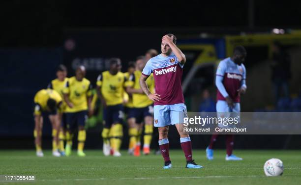 Dejection for West Ham United's Jack Wilshere after his side had gone 10 down during the Carabao Cup Third Round match between Oxford United and West...