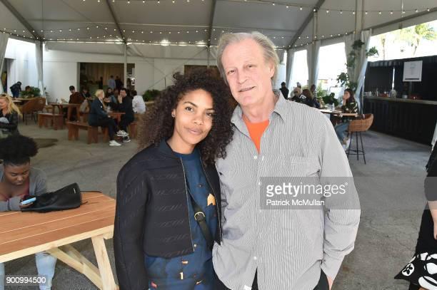 Dejha Carrington and Patrick McMullan attend NADA Art Fair at Ice Palace Studios on December 10 2017 in Miami Florida