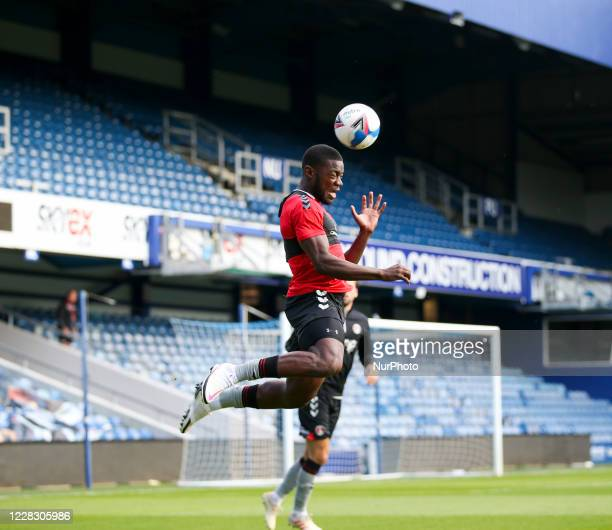 LONDON ENGLAND SEPT 1ST 2020 Deji Oshilaja of Charlton Athletic warming up during the EFL Trophy match between AFC Wimbledon and Charlton Athletic at...