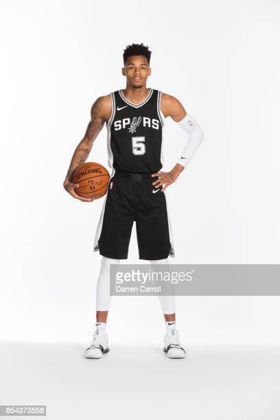 Dejounte Murray of the San Antonio Spurs poses for a portrait during Media Day on September 25 2017 at ATT Center in San Antonio Texas NOTE TO USER...