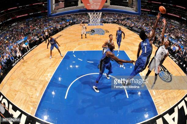 Dejounte Murray of the San Antonio Spurs shoots the ball against the Orlando Magic on October 27 2017 at Amway Center in Orlando Florida NOTE TO USER...