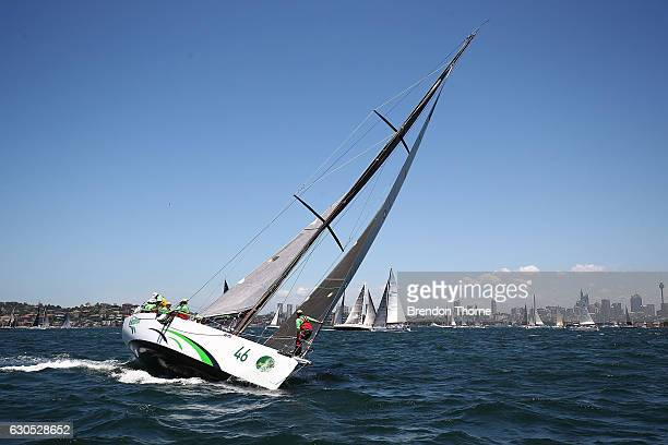 'Dekadence' make final preparations prior to the race start during the 2016 Sydney To Hobart Yacht Race on December 26 2016 in Sydney Australia