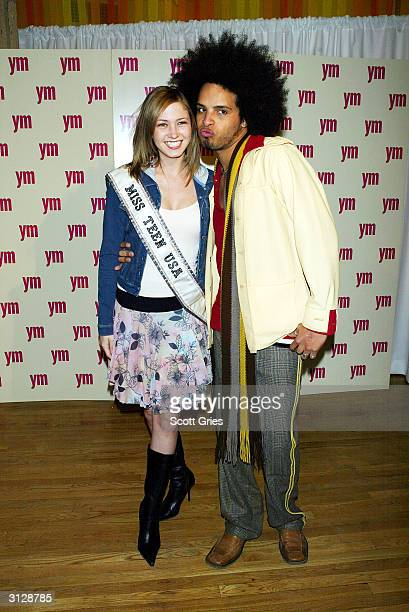 Del and Miss Teen USA Tami Farrell arrive at the 5th Annual YM MTV Issue party at Spirit March 24 2004 in New York City
