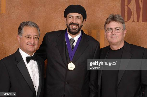 Del Bryant, Juan Luis Guerra and Phil Graham during BMI 13th Annual Latin Music Awards at Metropolitan Pavillion in New York City, New York, United...