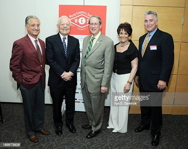 BMI CEO Del Bryant TV personality Bob Schieffer US Representatives Bob Goodlatte and Anna Eshoo and BMI SVP Richard Conlon at World Creators Summit...