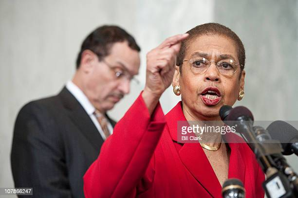 Del Eleanor Holmes Norton DDC speaks during the DC Vote ÒDonÕt Tread on DCÓ rally on Tuesday Jan 4 before DC Vote activists fanned out across the...