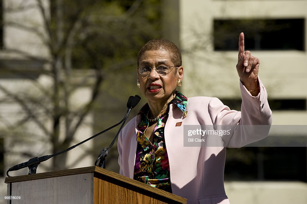 Del. Eleanor Holmes Norton, D-D.C., speaks during the National Census Day rally at Freedom Plaza in Washington on Thursday, April 1, 2010.