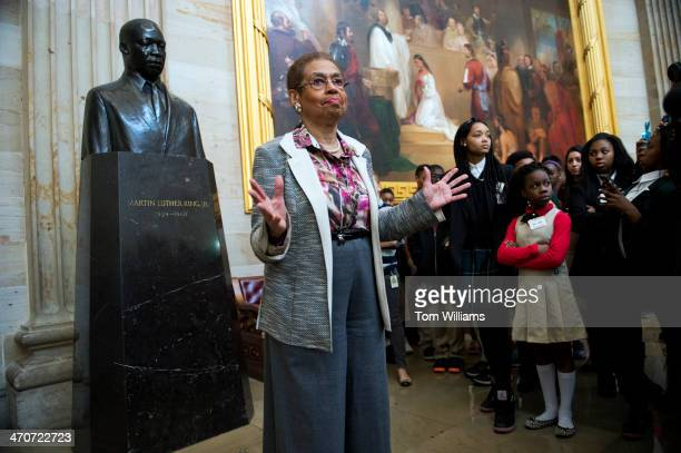 Del Eleanor Holmes Norton DDC talks about a statue of Martin Luther King Jr during a tour of the Capitol rotunda that she gave to about 60 DC...