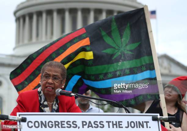 Del Eleanor Holmes Norton speaks during a DC Marijuana Justice rally to urge Congress to pass meaningful cannabis reform legislation on Capitol Hill...