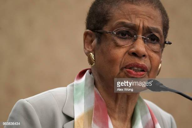 S Del Eleanor Holmes Norton speaks during a news conference May 2 2018 on Capitol Hill in Washington DC Del Holmes Norton held a news conference to...
