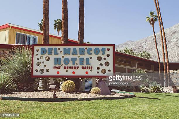 del marcos hotel - pam springs - mid century modern stock pictures, royalty-free photos & images