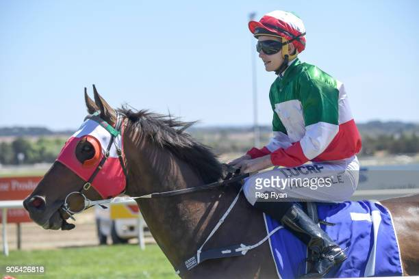 Del Piero ridden by Justin Huxtable on their way to the barriers before the Hygain Winnerâs Choice BM78 Handicap at SportsbetBallarat Racecourse on...